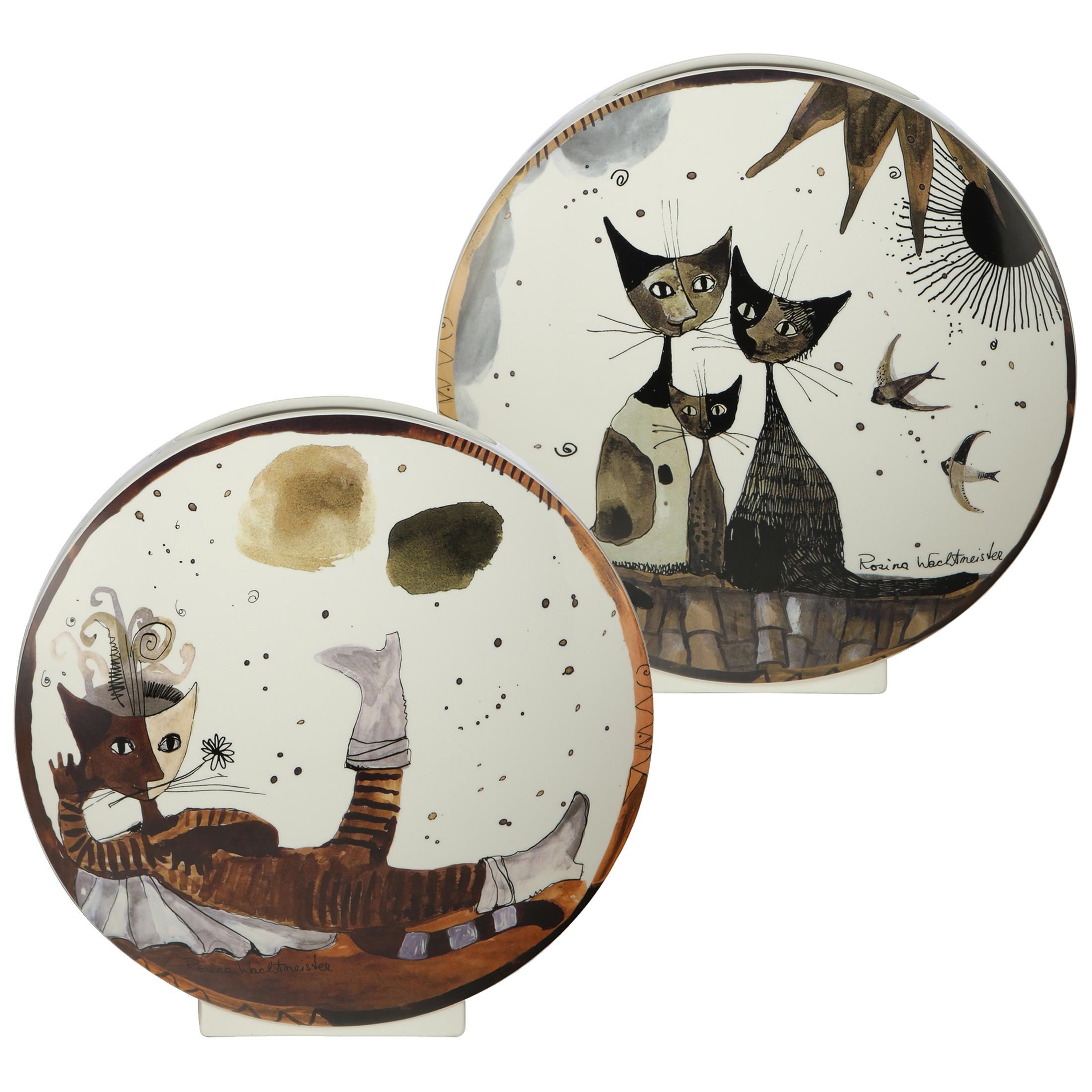 Goebel Rosina Wachtmeister Arte Grafica 'Vase Gatto con stivali' 2021