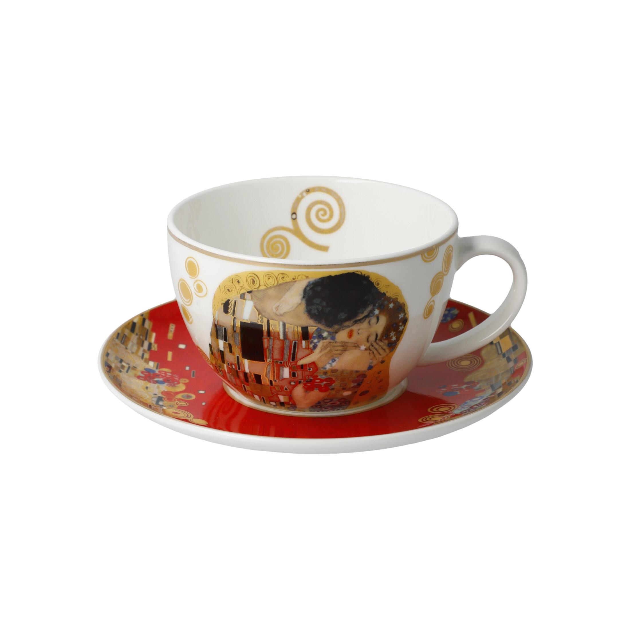 Goebel Artis Orbis Gustav Klimt Christmas Time 'Der Kuss Rot - Tee-/Cappuccinotasse' 2021 !
