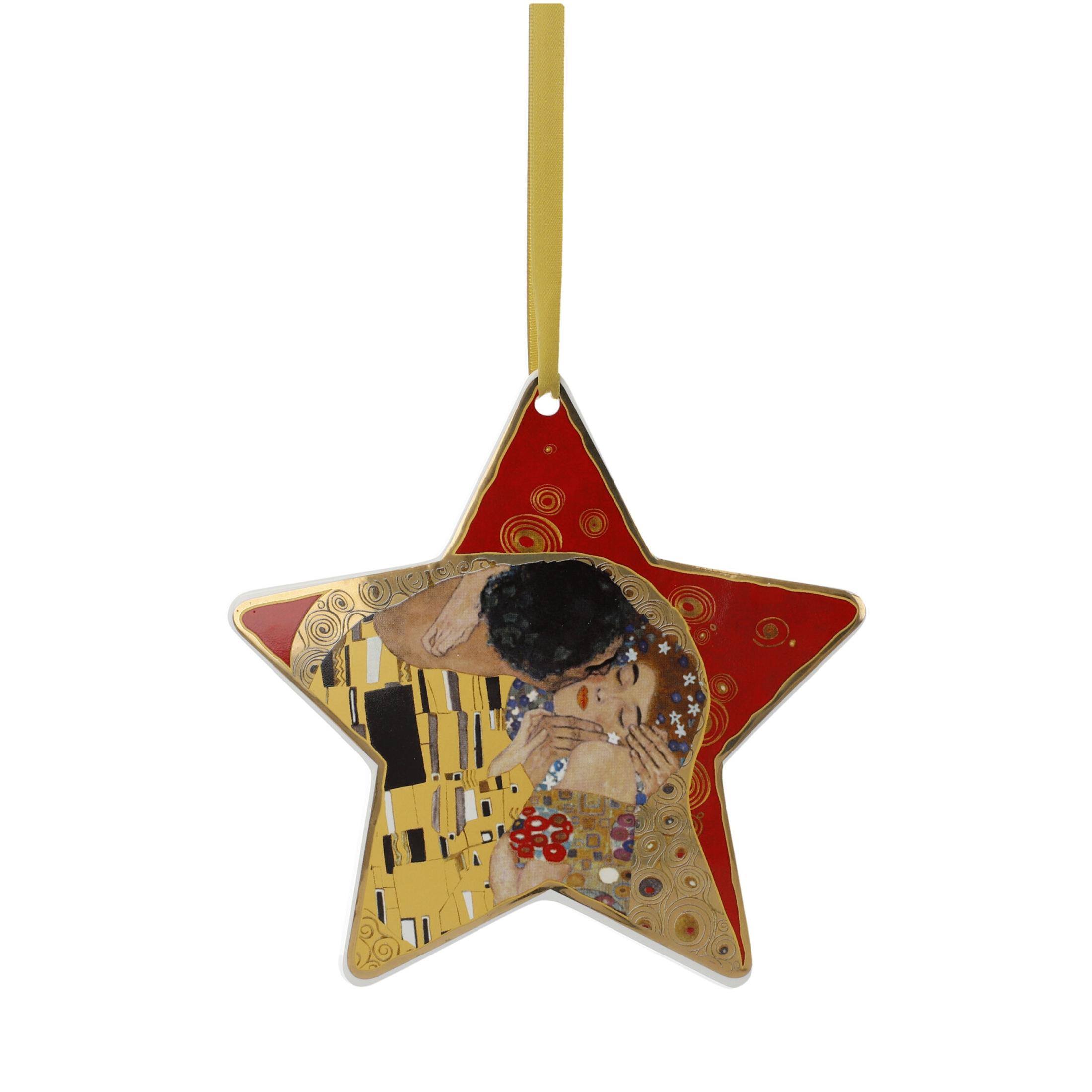 Goebel Artis Orbis Gustav Klimt Christmas Time 'Der Kuss Rot - Hängeornament' 2021 !