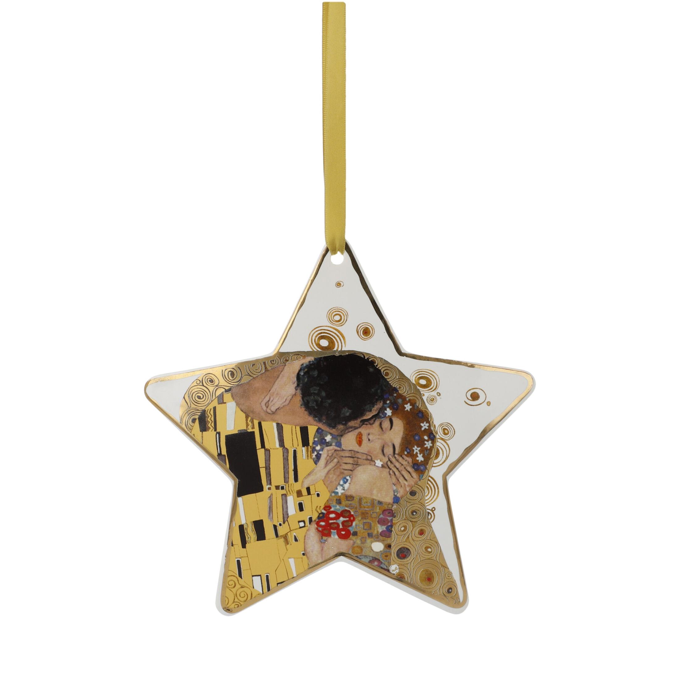 Goebel Artis Orbis Gustav Klimt Christmas Time 'Der Kuss Weiß - Hängeornament' 2021 !