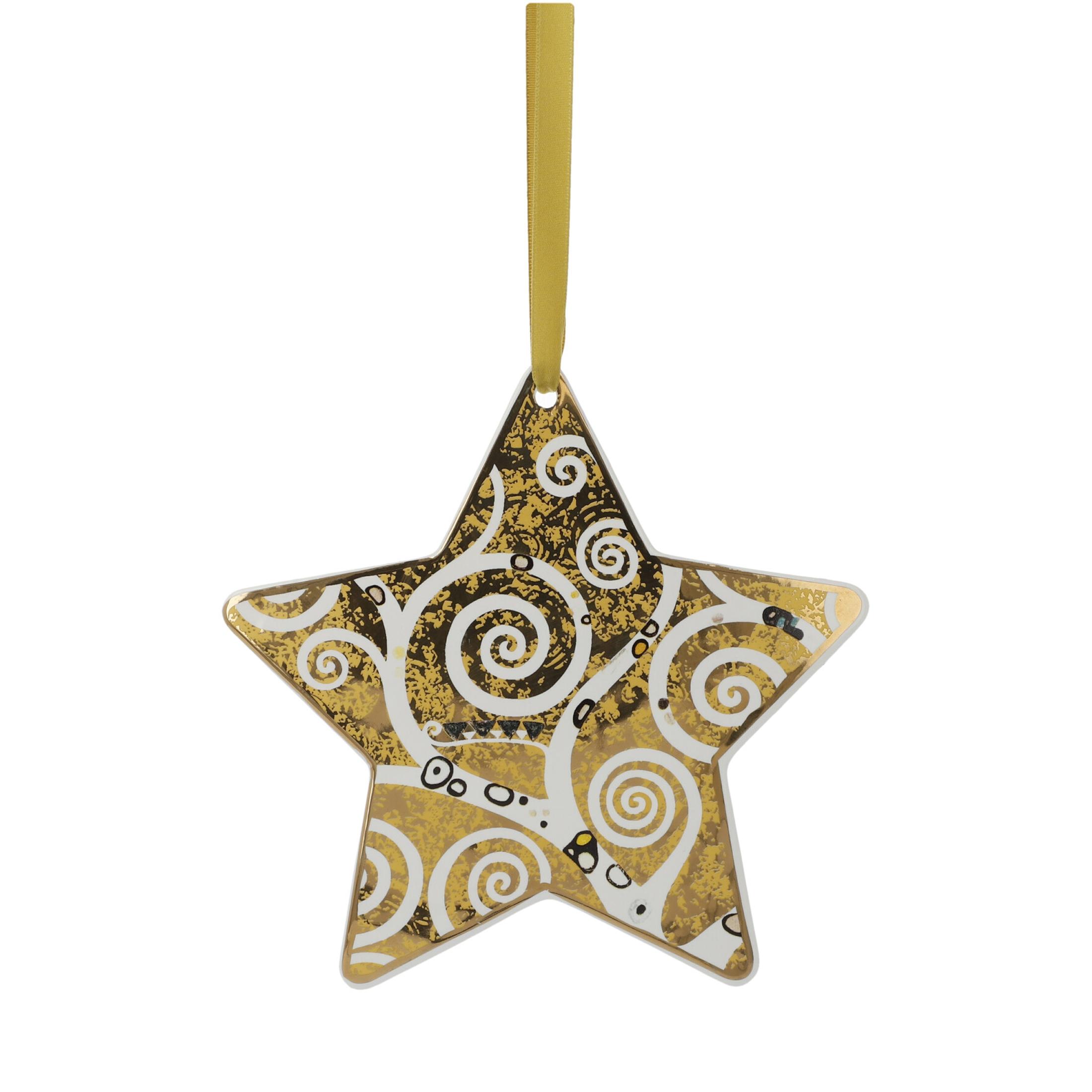 Goebel Artis Orbis Gustav Klimt Christmas Time 'Der Lebensbaum Gold-Weiß - Hängeornament' 2021 !